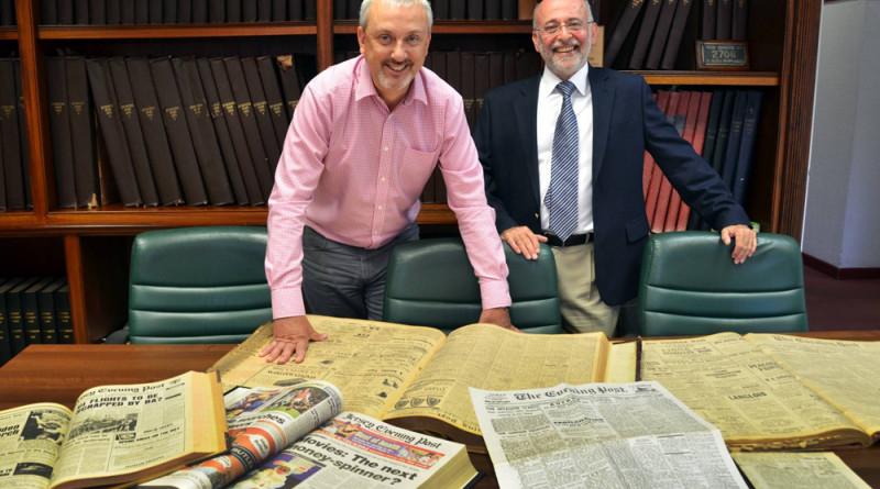 Jack Knadjian, MD Kodak Print Services. pictured with Paul Carter managing director of the Jersey Evening Post