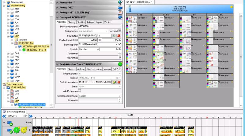 Im Bild: die grafische Benutzeroberfläche von MPS Production 6