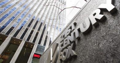 """ARCHIV- Blick auf die Büros von '21st Century Fox' in New York, New York,USA am 09.12.2016. (zu """"Sky-Übernahme durch 21st Century Fox droht zur Hängepartie zu werden"""" vom 15.07.2017) Foto: Justin Lane/EPA/dpa +++(c) dpa - Bildfunk+++"""