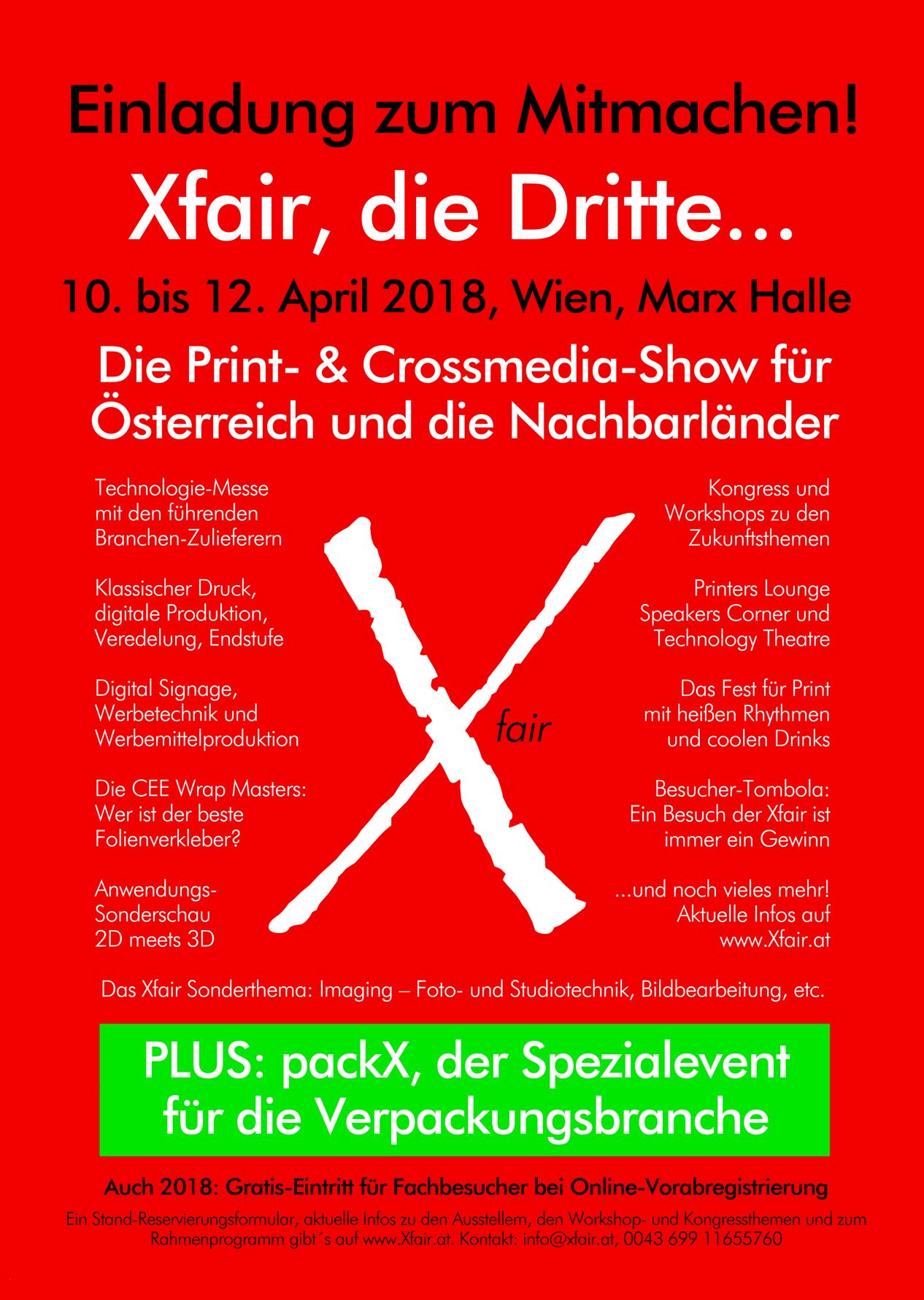Xfair 2018 Inserat zum Mitmachen OK LOW