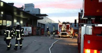 Schon wieder: Maschinenbrand bei Stark Druck